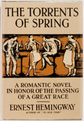 Books:Literature 1900-up, Ernest Hemingway. The Torrents of Spring. London: JonathanCape, [1933]. First edition, in a facsimile jacket. Spu...