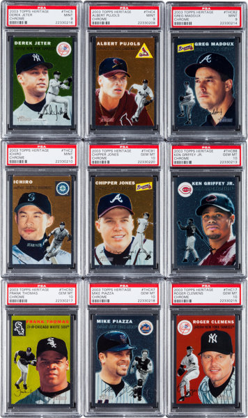 2003 Topps Heritage Chrome High Grade Complete Set 100