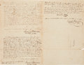 Autographs, [James Fannin], [Battle of Refugio], and [Goliad Campaign]. PhilipDimmitt Document Signed. ...