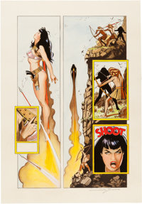 Jim Silke Bettie Page Queen of the Nile #3 Painted Page 14 Original Art (Dark Horse, 2000)