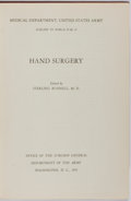 Books:Medicine, Sterling Bunnell, editor. Medical Department, United States ArmySurgery in World War II Hand Surgery. Office of...