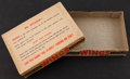 "Non-Sport Cards:Unopened Packs/Display Boxes, Scarce 1952 Topps ""Wings"" Empty Display Box. ..."