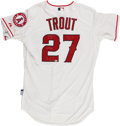 Baseball Collectibles:Uniforms, Mike Trout Signed and Inscribed Los Angeles Angels Jersey....