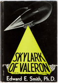 Books:Science Fiction & Fantasy, Edward E. Smith. Skylark of Valerion. Reading: Fantasy Press, 1949. First edition, first printing. Publisher's blue ...