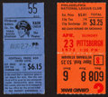 Baseball Collectibles:Tickets, 1972 Roberto Clemente Hit Ticket Stubs Lot of 2 - From Last Seasonof His Career....