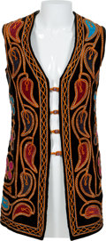 Music Memorabilia:Costumes, Jimi Hendrix Owned and Worn Long Multi-Colored Paisley and Flower Design Velvet Vest with Signed Letter of Authenticity from A...
