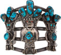 Music Memorabilia:Costumes, Elvis Owned Turquoise and Silver Bracelet (1970s)....