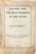 Books:Americana & American History, William Henry Fleming. Slavery and the Race Problem in theSouth. Augusta: Augusta Chronicle Job Office, 1906. Publi...