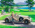 Works on Paper, HARRY ANDERSON (1906-1996). Golf, 1929 Chrysler Imperial Roadster, Great Moments in Early American Motoring. Gouache and...