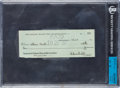 Football Collectibles:Others, 1939 Bill Hewitt and Bert Bell Signed Check. ...