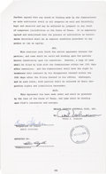 Football Collectibles:Others, 1978 Ernie Stautner Signed Dallas Cowboys Coach's Contract - Also Signed by Rozelle and Schramm....