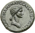 Ancients:Roman Imperial, Ancients: Agrippina Senior, mother of Caligula (died AD 33). Orichalcum sestertius (34mm, 32.06 gm, 6h)....
