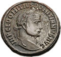 Ancients:Roman Imperial, Ancients: Domitius Domitianus, Usurper in Egypt (AD 297-298). Æ follis (25mm, 10.90 gm, 1h)....