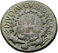 Ancients:Roman Imperial, Ancients: Divus Augustus (died AD 14). Orichalcum sestertius (35mm, 26.49 gm, 12h)....