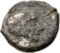 Ancients:Judaea, Ancients: Philistia. Ca. 5th-4th centuries BC. AR/Æ platedquarter-shekel (15mm, 3.29 gm, 8h). ...