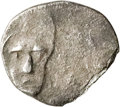 Ancients:Judaea, Ancients: Yehud Era (333-302 BC). AR quarter ma'ah obol (7mm, 0.18gm, 12h). ...