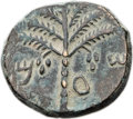 Ancients:Judaea, Ancients: Bar Kokhba Revolt (AD 132-135). Æ middle bronze (24mm,12.07 gm, 7h)....