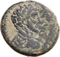 Ancients:Roman Provincial , Ancients: Ascalon, Judaea. Marcus Aurelius, as Caesar (AD 139-161).Æ 26mm (17.00 gm, 12h)....