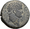 Ancients:Judaea, Ancients: JUDAEA CAPTA. Local issues. Titus as Caesar (AD 69-79). Æ24mm (11.77 gm, 12h). ...