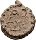 Ancients:Judaea, Ancients: JUDAEA. Ca. 3rd-5th Centuries AD. Lead seal (20mm, 5.95gm)....