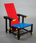 Post-War & Contemporary:Pop, MARIO MINALE (Italian/German, b. 1973). Red blue LEGO®chair, 2007, Droog. LEGO® bricks, aluminum frame. 33 x 24 x 33in...