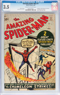 Silver Age (1956-1969):Superhero, The Amazing Spider-Man #1 (Marvel, 1963) CGC VG- 3.5 Cream tooff-white pages....