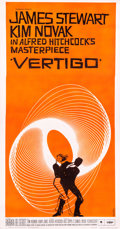 "Movie Posters:Hitchcock, Vertigo (Paramount, 1958). Three Sheet (41"" X 78"").. ..."