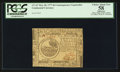 Colonial Notes:Continental Congress Issues, Continental Currency May 20, 1777 $6 Contemporary Counterfeit PCGS Apparent Choice About New 58.. ...