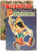 Memorabilia:Movie-Related, Walt Disney's Pinocchio and The Story of the Wizard ofOz #708 Group (Whitman, 1939).. ... (Total: 2 Items)