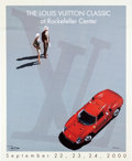 Transportation:Automobilia, 2000 Louis Vuitton Classic At Rockefeller Center Original Poster ByRazzia...