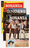 Silver Age (1956-1969):Western, Gunsmoke/Bonanza Group (Dell, 1956-70) Condition: Average GD/VG....(Total: 60 Comic Books)