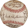 Baseball Collectibles:Balls, 1971 Oakland Athletics Team Signed Baseball (33 Signatures)....