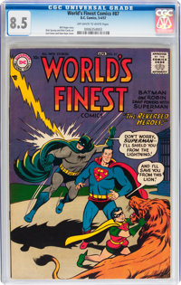 World's Finest Comics #87 (DC, 1957) CGC VF+ 8.5 Off-white to white pages