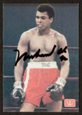 Boxing Collectibles:Autographs, Signed Muhammad Ali AW Sports Promo Card. ...