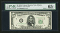 Small Size:Federal Reserve Notes, Low Serial Number 00000001 Fr. 1961-F $5 1950 Wide I Federal Reserve Note. PMG Gem Uncirculated 65 EPQ.. ...