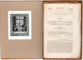 Books:Americana & American History, [Martin van Buren]. Group of Six Messages from the President ofthe United States...January 1838 - February 1841. Co...
