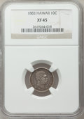 Coins of Hawaii: , 1883 10C Hawaii Ten Cents XF45 NGC. NGC Census: (49/241). PCGSPopulation (86/324). Mintage: 250,000. ...