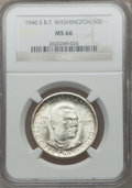 Commemorative Silver: , 1946-S 50C Booker T. Washington MS66 NGC. NGC Census: (423/76).PCGS Population (441/84). Mintage: 500,279. Numismedia Wsl....