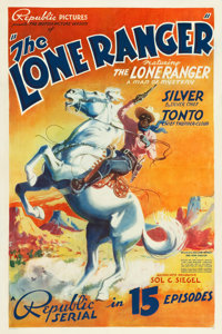 "The Lone Ranger (Republic, 1938). Stock One Sheet (27.5"" X 41"")"