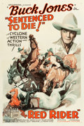 "Movie Posters:Serial, The Red Rider (Universal, 1934). One Sheet (27"" X 41"") Chapter 1 --""Sentenced to Die."". ..."
