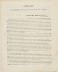 Miscellaneous:Ephemera, [Texas Annexation]. Circular to Collectors and Other Officers OfThe Customs....