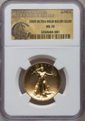 Modern Bullion Coins, 2009 $20 One-Ounce Gold Ultra High Relief Double Eagle MS70 NGC.NGC Census: (7869). PCGS Population (6386). Numismedia Ws...