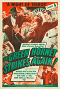 "Movie Posters:Serial, The Green Hornet Strikes Again (Universal, 1941). One Sheet (27.5""X 40"") Chapter 4 -- ""A Night of Terror."". ..."