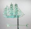 Post-War & Contemporary, UNKNOWN. Weathervane: Clipper Ship. Mixed media. 77 x 49inches (195.6 x 124.5 cm). FROM THE PROPERTY OF THE BELO COLL...