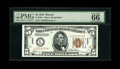 Small Size:World War II Emergency Notes, Fr. 2301 $5 1934 Hawaii Federal Reserve Non-Mule Note. PMG GemUncirculated 66EPQ. There is an approximate 760,000 number ra...