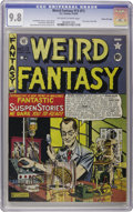 Golden Age (1938-1955):Science Fiction, Weird Fantasy #13 (#1) Gaines File pedigree 2/10 (EC, 1950) CGCNM/MT 9.8 Off-white to white pages. The highest grade ye...