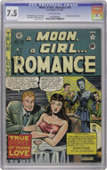 Golden Age (1938-1955):Romance, A Moon, A Girl...Romance #10 (EC, 1949) CGC VF- 7.5 Off-whitepages. Beautiful copy appears a higher grade, but it does have...
