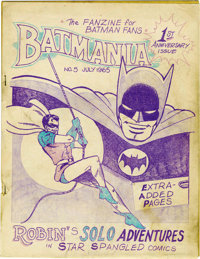Batmania Fanzine Group (Biljo White, 1965-67). One of the things that gave rise to what we now refer to as Comics Fandom...