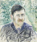 Fine Art - Painting, European:Antique  (Pre 1900), CAMILLE PISSARO (French 1830 - 1903). Portrait d'Alfred Isaacson, circa 1883. Pastel on paper. 20-1/2 x 16in.. PROVENA...