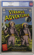 Golden Age (1938-1955):Science Fiction, Strange Adventures #1 (DC, 1950) CGC VF+ 8.5 Off-white pages. The1950s sci-fi craze began in earnest with the major motion ...